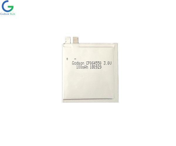 Ultra Thin Battery 064550 100mAh 3.0V