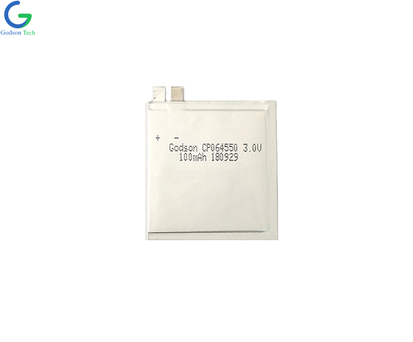 Ultra Thin Battery 064550 100mAh 3.7V