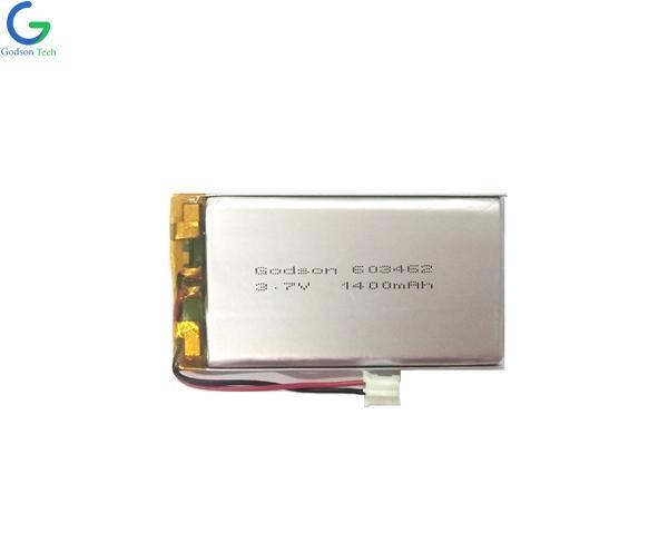Lithium Polymer Battery 603462 1400mAh 3.7V