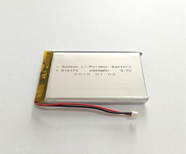 Lithium Polymer Battery 614170 2000mAh 3.7V