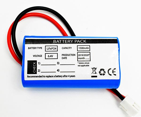 LiFePO4 Packs 1500mAh 6.4V