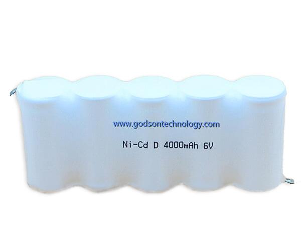 Ni-Cd Battery Pack D4000mAh 6.0V
