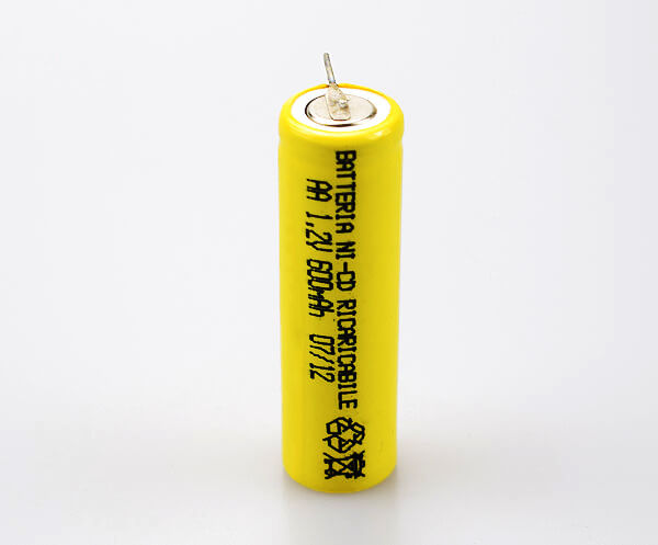 Ni-Cd Battery Cell AA 600mAh 1.2V